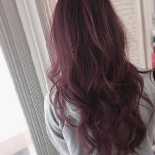 ダブルカラー ロング グラデーションカラー ピンク ヘアスタイルや髪型の写真・画像