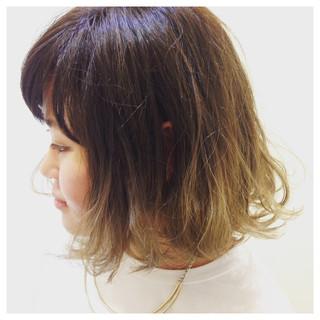 外国人風 グラデーションカラー ストリート ボブ ヘアスタイルや髪型の写真・画像