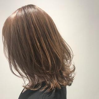 抜け感 透明感カラー 切りっぱなし ナチュラル ヘアスタイルや髪型の写真・画像