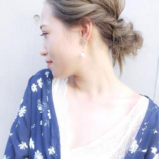 涼しげ 大人かわいい コンサバ ヘアアレンジ ヘアスタイルや髪型の写真・画像