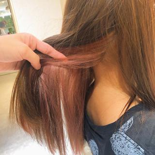 フェミニン #インナーカラー インナーカラーレッド インナーカラー赤 ヘアスタイルや髪型の写真・画像