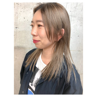 ヌーディベージュ ミルクティーベージュ ベージュ ストリート ヘアスタイルや髪型の写真・画像