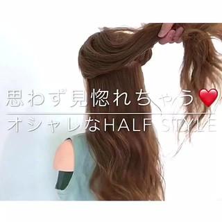 デート ロング 簡単ヘアアレンジ ヘアアレンジ ヘアスタイルや髪型の写真・画像