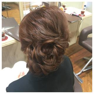 ねじり 編み込み お祭り 花火大会 ヘアスタイルや髪型の写真・画像