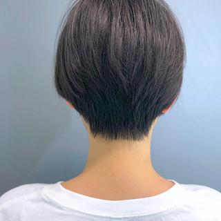 黒髪 簡単スタイリング ナチュラル ショートヘア ヘアスタイルや髪型の写真・画像
