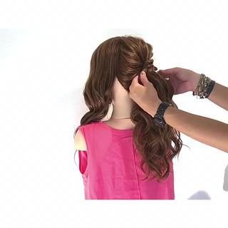 上品 結婚式 ヘアアレンジ デート ヘアスタイルや髪型の写真・画像 ヘアスタイルや髪型の写真・画像