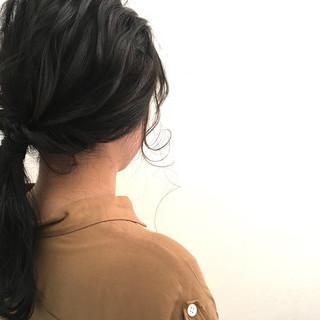 ナチュラル 簡単ヘアアレンジ 大人かわいい ロング ヘアスタイルや髪型の写真・画像