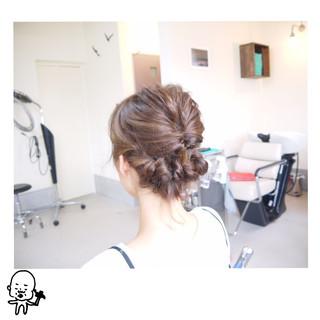 ボブ ヘアアレンジ ナチュラル 簡単ヘアアレンジ ヘアスタイルや髪型の写真・画像