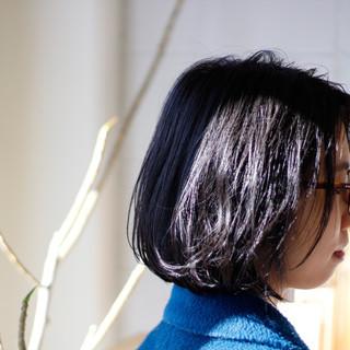 ナチュラル ボブ ナチュラル可愛い ウェットヘア ヘアスタイルや髪型の写真・画像