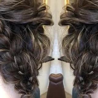 結婚式 セミロング パーティヘア エレガント ヘアスタイルや髪型の写真・画像