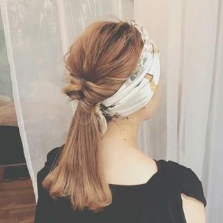 ハイライト グレージュ ロング 秋 ヘアスタイルや髪型の写真・画像
