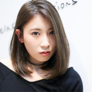 大人かわいい 外国人風 ハイライト ミディアム ヘアスタイルや髪型の写真・画像