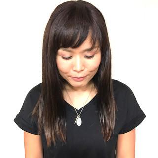 トリートメント 透明感 ロング 艶髪 ヘアスタイルや髪型の写真・画像