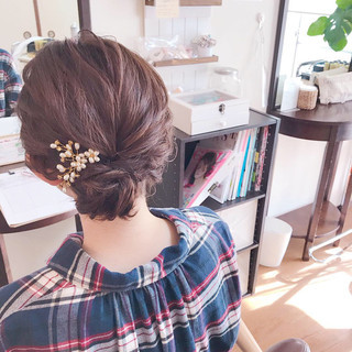 成人式 結婚式 上品 エレガント ヘアスタイルや髪型の写真・画像
