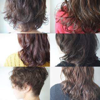 パーマ 簡単 ナチュラル ゆるふわ ヘアスタイルや髪型の写真・画像