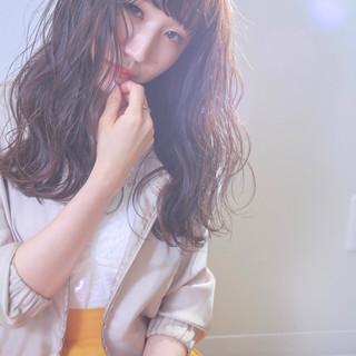 オフィス ロング フェミニン ヘアアレンジ ヘアスタイルや髪型の写真・画像