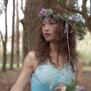 花嫁 ふわふわ ヘアアレンジ 波ウェーブ ヘアスタイルや髪型の写真・画像