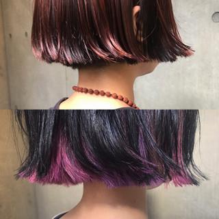 モード デート ボブ パーマ ヘアスタイルや髪型の写真・画像