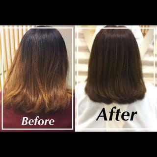 ヘアアレンジ ミディアム 艶髪 ナチュラル ヘアスタイルや髪型の写真・画像