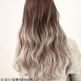外国人風 ストリート ハイライト ロング ヘアスタイルや髪型の写真・画像