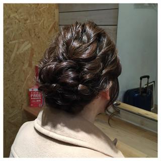 結婚式 パーティ ヘアアレンジ 大人かわいい ヘアスタイルや髪型の写真・画像