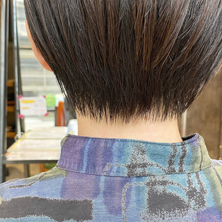 ショート ショートヘア ナチュラル 前髪 ヘアスタイルや髪型の写真・画像