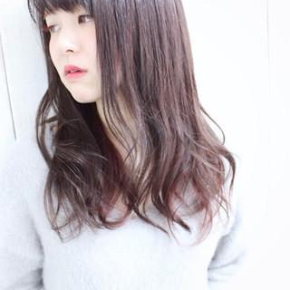 ピンク ナチュラル ラベンダーピンク グレージュ ヘアスタイルや髪型の写真・画像