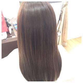 大人かわいい グラデーションカラー アッシュ モード ヘアスタイルや髪型の写真・画像