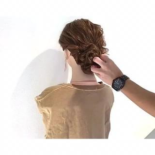 涼しげ ヘアアレンジ 女子会 ロング ヘアスタイルや髪型の写真・画像