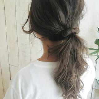 ヘアアレンジ ロング 簡単ヘアアレンジ 外国人風 ヘアスタイルや髪型の写真・画像