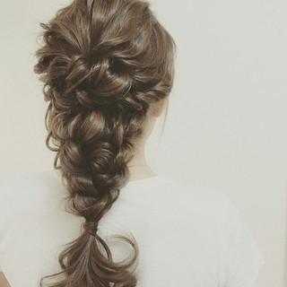 大人かわいい ロング ヘアアレンジ ブライダル ヘアスタイルや髪型の写真・画像