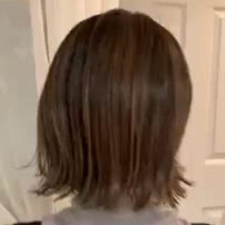 切りっぱなしボブ ナチュラル グラデーションカラー 大人かわいい ヘアスタイルや髪型の写真・画像