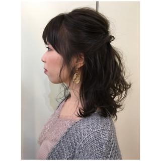 ヘアアレンジ ナチュラル ミディアム 大人かわいい ヘアスタイルや髪型の写真・画像