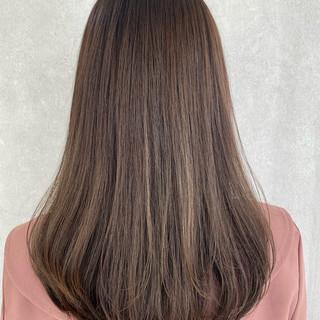 髪質改善トリートメント モテ髪 セミロング 髪質改善カラー ヘアスタイルや髪型の写真・画像