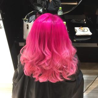 個性的 ストリート 渋谷系 ピンク ヘアスタイルや髪型の写真・画像