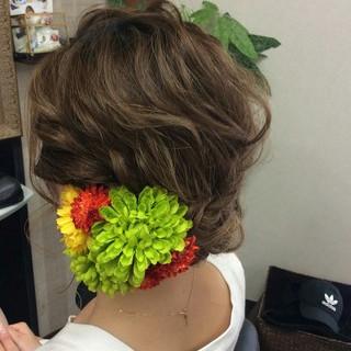 ヘアアレンジ エレガント 上品 和装 ヘアスタイルや髪型の写真・画像