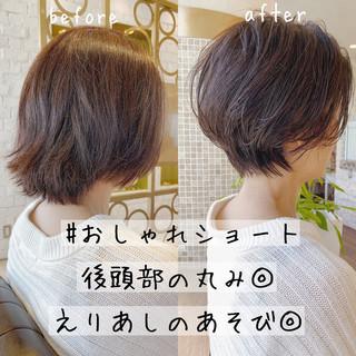 ミニボブ ベリーショート ショート ショートヘア ヘアスタイルや髪型の写真・画像