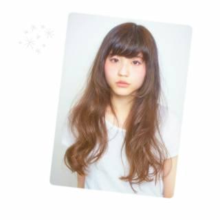 モテ髪 大人かわいい フェミニン ロング ヘアスタイルや髪型の写真・画像