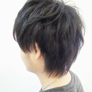 パーマ メンズ ショート モテ髪 ヘアスタイルや髪型の写真・画像