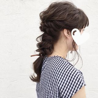 デート ヘアアレンジ 涼しげ 夏 ヘアスタイルや髪型の写真・画像