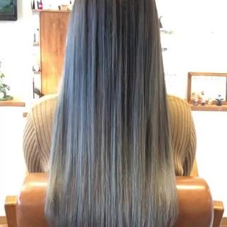 エレガント デート 外国人風カラー バレイヤージュ ヘアスタイルや髪型の写真・画像