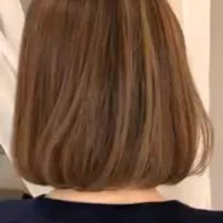 ナチュラル 大人かわいい ボブ グラデーションカラー ヘアスタイルや髪型の写真・画像