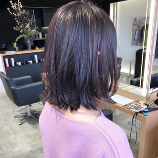 デート ロブ アウトドア ミディアム ヘアスタイルや髪型の写真・画像