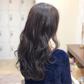 エフォートレス 透明感 外国人風カラー ロング ヘアスタイルや髪型の写真・画像
