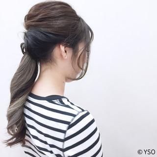 外国人風 ヘアアレンジ ショート 大人かわいい ヘアスタイルや髪型の写真・画像