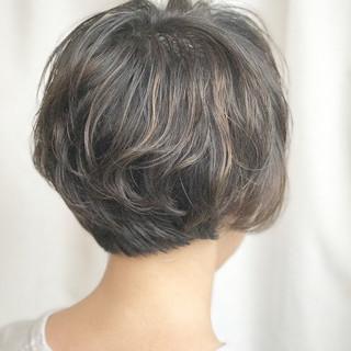 秋 アンニュイ ハイライト ナチュラル ヘアスタイルや髪型の写真・画像