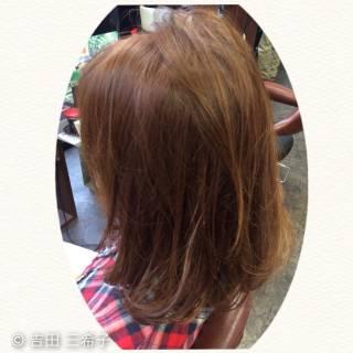 ベージュ コンサバ ロブ ハイライト ヘアスタイルや髪型の写真・画像 ヘアスタイルや髪型の写真・画像