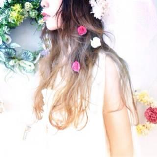 ゆるふわ 結婚式 卵型 大人かわいい ヘアスタイルや髪型の写真・画像