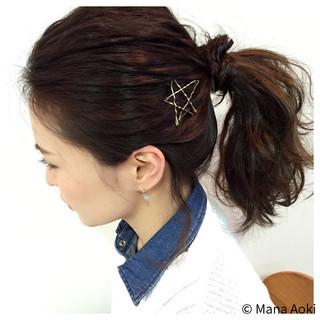 セルフヘアアレンジ ヘアアレンジ ヘアアクセ ヘアピン ヘアスタイルや髪型の写真・画像 ヘアスタイルや髪型の写真・画像