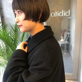 モード ベリーショート ショートヘア ミニボブ ヘアスタイルや髪型の写真・画像